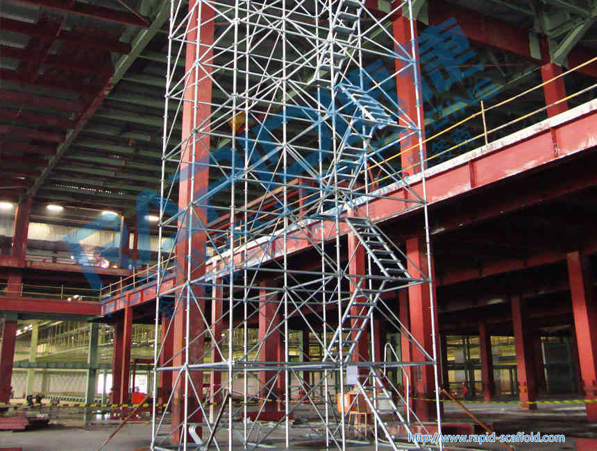 Caster type mobile rack construction work for Castor construction